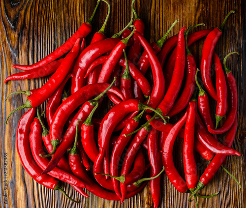 Red hot chilli peppers pattern texture background