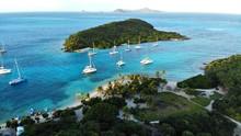 Vue Aérienne, Les Iles Grenadines, Tobago Cays
