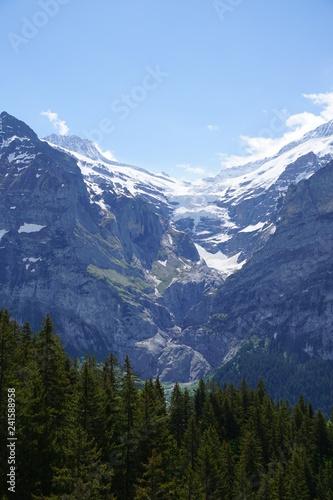Tuinposter Alpen Grindelwald landscape in Alps near the Interlaken, Switzerland.