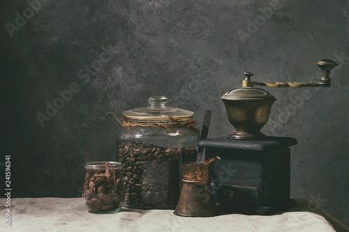 Fototapety, obrazy: Coffee beans in jar