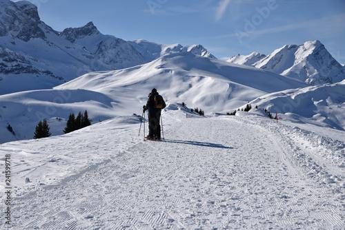 Randonnée en hiver dans l'Oberland bernois, Suisse