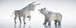 Bulle und Bär aus Börsen-Zeitungspapier