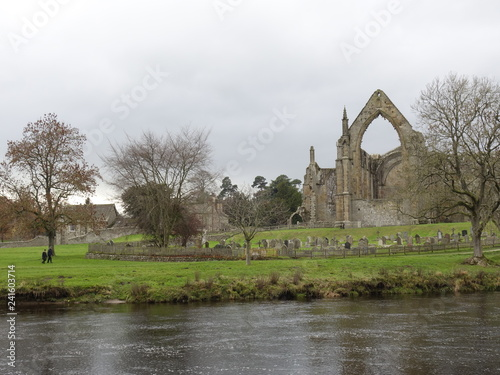 A vie of Bolton Abbey in Cheshire england Canvas Print
