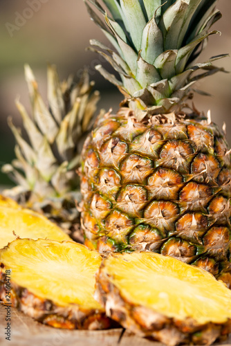 delicious pineapple background