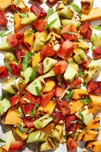 Close Up Of Roasted Fruit Salad