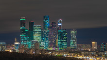 Skyline Of Moscow, Russia At N...