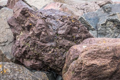 Fotografie, Obraz  Close View of Large Rock Pile