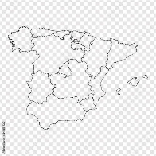 Map Of Spain Blank.Blank Map Spain High Quality Map Spain With Provinces On