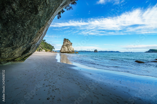 Foto op Canvas Cathedral Cove view from the cave at cathedral cove,coromandel,new zealand 35