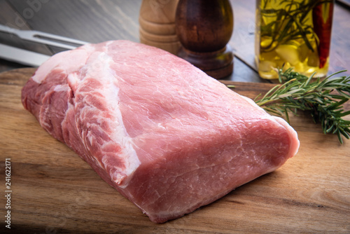 raw pork loin top roast boneless Canvas-taulu