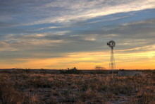 Winmill In The Texas Desert At...