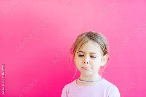 Fotografie, Obraz  trauriges, enttäuschtes Kind