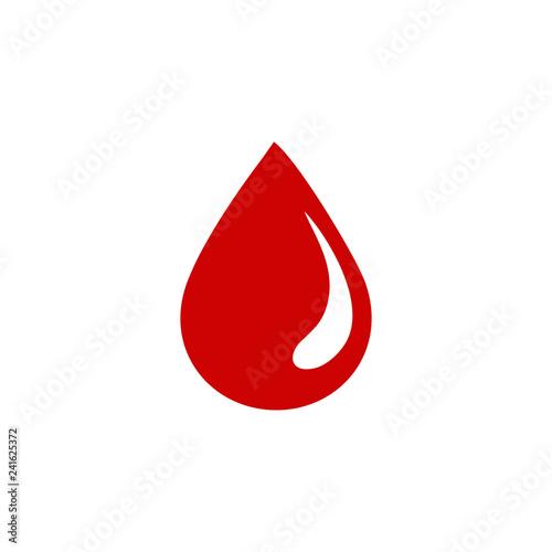 Papel de parede blood drop simple icon