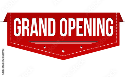 Grand opening banner design Canvas Print