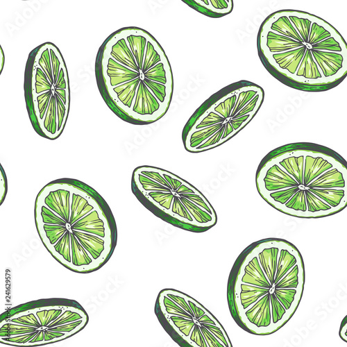 vector-vintage-seamless-pattern-with-lime-isolated-on-white-hand-drawn-color-texture-with-green-slices-of-citrus-fruit-rounds-sketch