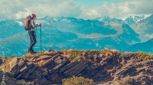Obraz na plátně Mountain Trailhead Trekking