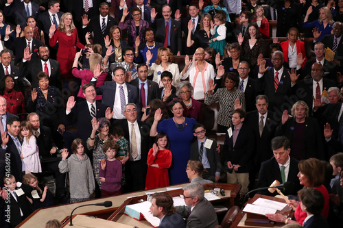 Awe Inspiring Members Of The U S House Of Representatives Are Sworn In By Home Interior And Landscaping Transignezvosmurscom