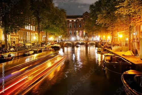 Photo  Amsterdam de nuit
