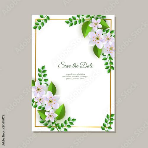 Vector Illustration Of Wedding Invitation Card With Tender