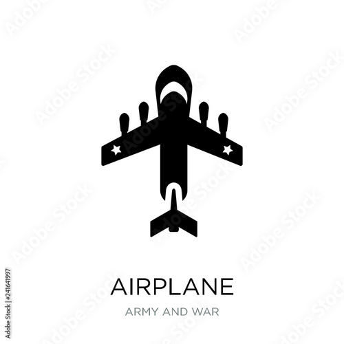 airplane icon vector on white background, airplane trendy filled Wallpaper Mural