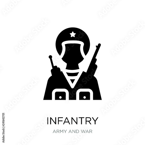 Fotografía  infantry icon vector on white background, infantry trendy filled