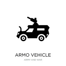 Armo Vehicle Icon Vector On Wh...