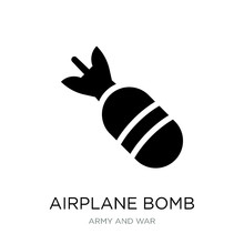 Airplane Bomb Icon Vector On White Background, Airplane Bomb Tre
