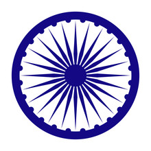 Ashoka Chakra For India - Blue...