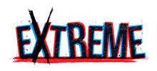 Extreme Word, Vector Illustrat...