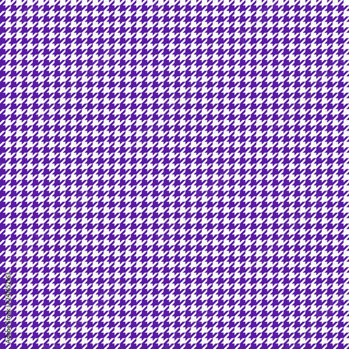 Photo  Houndstooth Seamless Pattern - Classic purple and white houndstooth texture