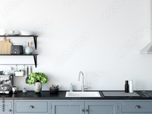 Αφίσα  Kitchen interior wall mockup