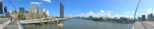 Staande foto Oceanië Panoramic Landscape view of Brisbane City