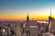 Sunset light of life has started from New York City, USA