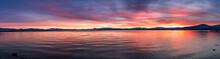 Beautiful Sunset Views Of Lake Tahoe, California