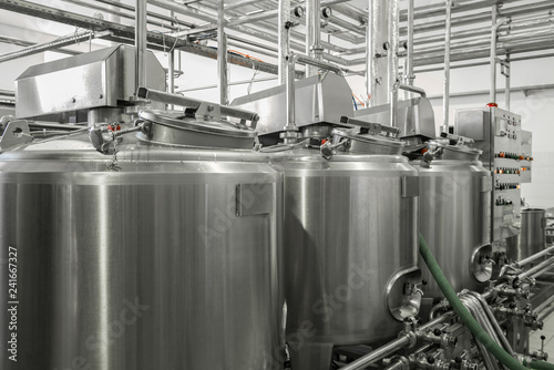 Photo storage and pasteurization tank at the milk factory