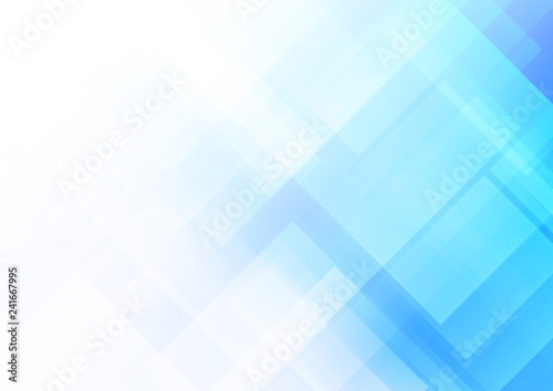 Abstract blue background with square shapes
