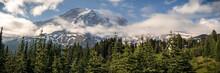Summer Panorama Of Mt Rainier ...