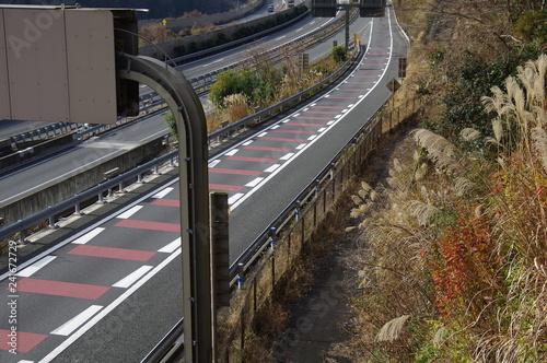 Fotografia, Obraz  高速道路の分岐