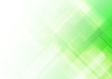 Abstract Square Shapes Green Background