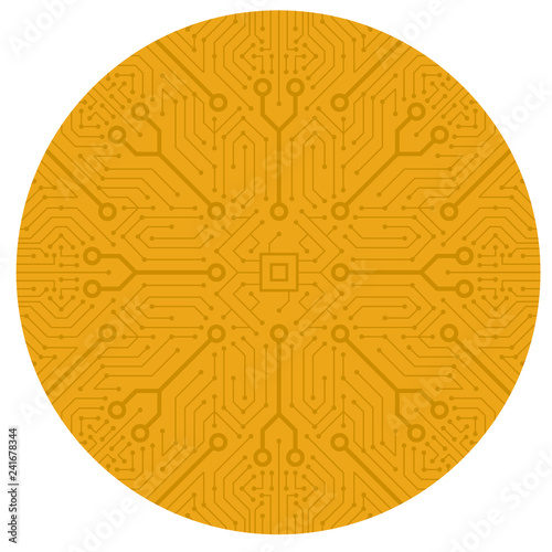 Abstract circuit motherboard texture  Electronic computer