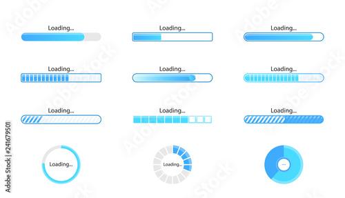 Fotografía  Loading icon set isolated on white background
