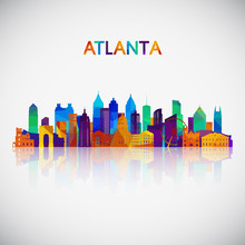 Atlanta Skyline Silhouette In ...