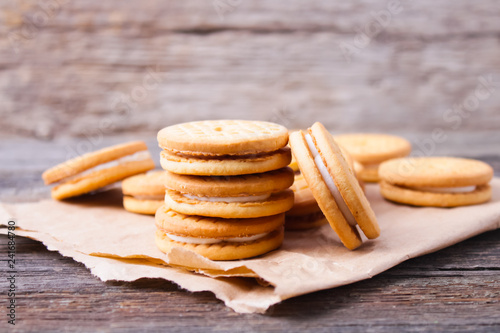 Stampa su Tela cookies with cream filling