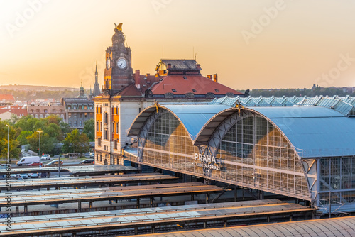 Obraz Prague Main Train Station, Hlavni nadrazi, Prague, Czech Republic - fototapety do salonu
