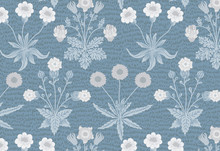 Daisy And Jasmine By William Morris (1834-1896). Original From The MET Museum. Digitally Enhanced By Rawpixel.