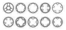 Vector Set Of Ten Bike Chainri...