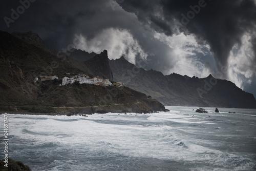 In de dag Kust Anaga mountain in Tenerife, Spain, Europe