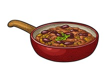 Chili Con Carne In Pan - Mexic...