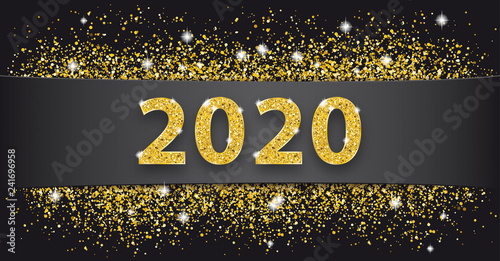 Photo  Black Paper Banner Golden Sand 2020
