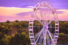 Ferris Wheel Sunset Background...